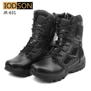 Image 3 - IODSON Military Tactics Mens Ankle Combat Boots Outdoor Special Forces Combat Shoes Leather Waterproof Safety Work Boots Size 3