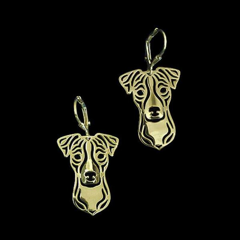 2018 Womens Jewelry Silver Plated Dog Earrings Lovers Alloy Jack Russell Terrier Earrings Drop Shipping