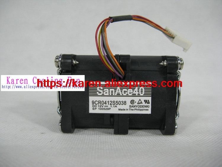 Original Sanyo 4056 Y2205 9CR0412S5038 12V 1.1A server cooling fan