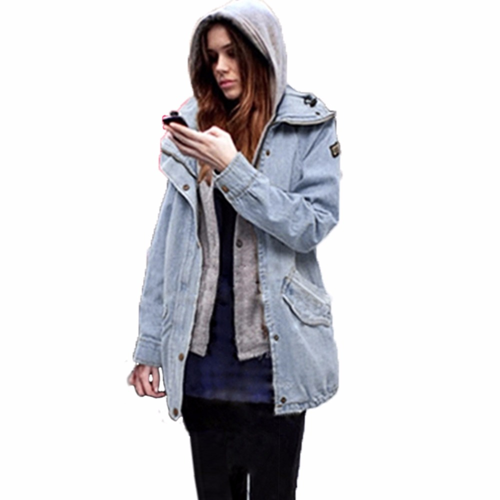 New Fashion Warm Spring Autumn Winter Long Sleeve Women Basic Jean Denim Coat Female Lady Jacket Outerwear Anorak Suit Clothing