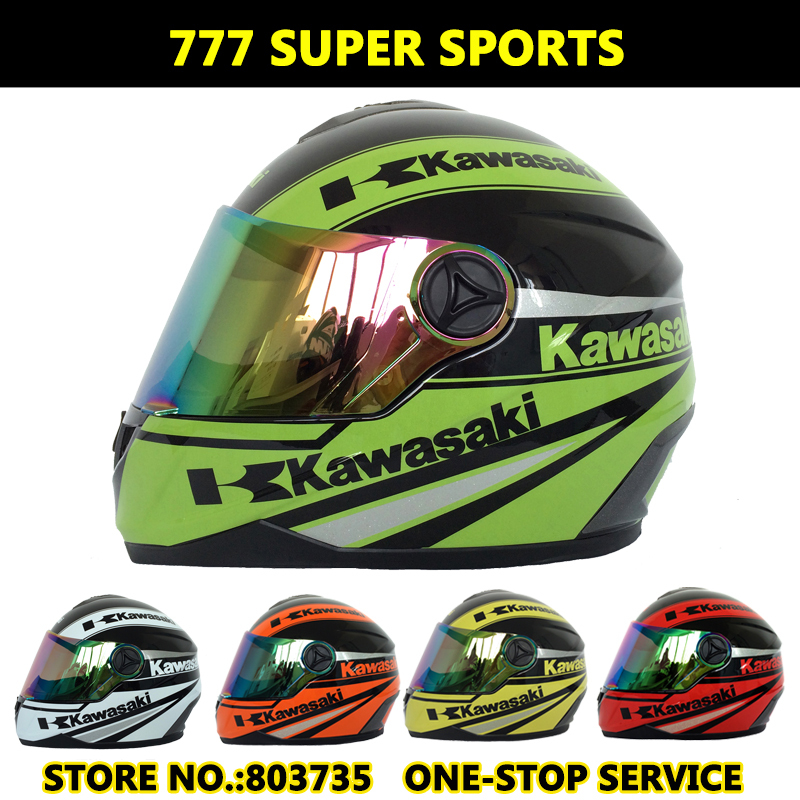 kawasaki brand motorcycle helmet men/women full face helmet