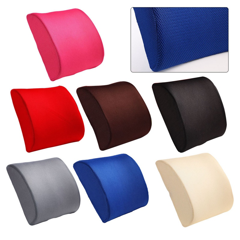 Memory Foam Lumbar Cushion Lower Back Support Pillow Posture Correcting Car Seat Home Office Chair
