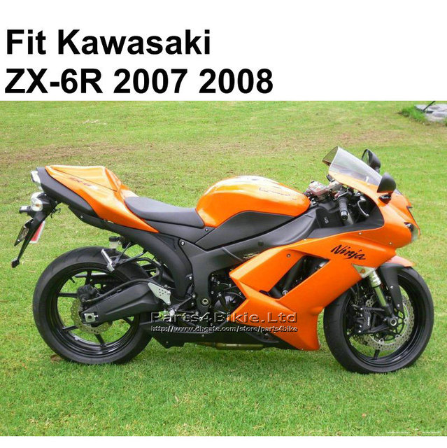 Hot Sale Fairings For Kawasaki Ninja 636 ZX6R 2007 2008 Burnt Orange ZX 6R 07
