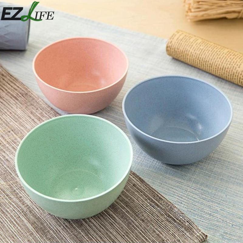 Wheat Straw Children Baby Bowl Prevent Break Dinner Baby Dishes Fruit Plate 3D Feeding Bowl Tableware Healthy BPA Free CFC5070