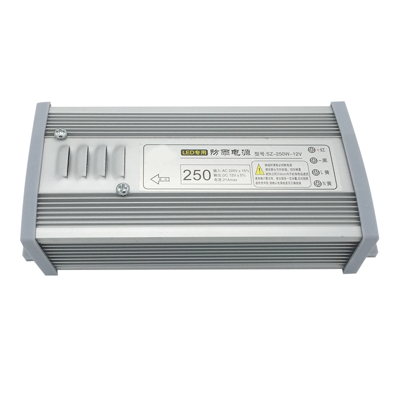 250w Rainproof Universal power suply ac/dc 12V DC 20A Switching Power Supply for rigid strip bar light out door lc 12 250w 20 8a rainproof switching power supply silvery grey 175 240v