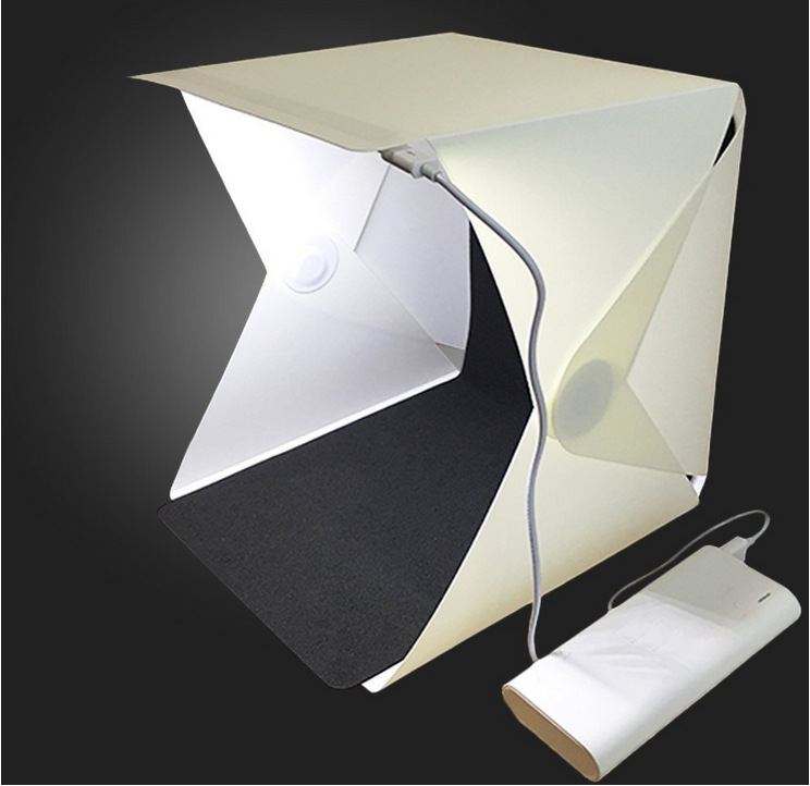 Z40 Mini Folding Lightbox LED Light Soft Box Photo Lighting Tent Kit Photography Studio Softbox 2*Background Box 20CM*24CM*24CM