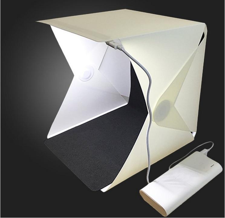 Z40 Mini Folding Lightbox LED Light Soft Box Photo Lighting Tent Kit Photography Studio Softbox 2*Background Box 20CM*24CM*24CM