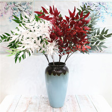 11pcs Artificial Willow Tree Branches Silk Leaf Stems for Wedding Party Decoration