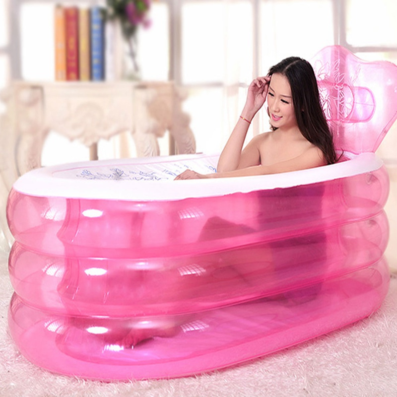 NEW!!!Water Beauty Portable PVC Adult Bath Tub Folding Inflatable Bathtub Safe And Environmentally Friendly Non-toxic Thick Bath