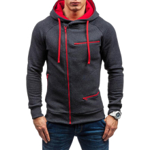 New 3D Hoodies Men 2018 Brand Male Hoodie Sweatershirt Side Oblique Pull Sweatshirt Moletom Masculino Slim Tracksuit