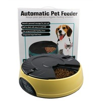 3Colors Automatic Pet Feeder 6 Meal LCD Digital Automatic Pet Dog Cat Feeder Recorder Bowl Meal Dispenser Set 6 feeding times