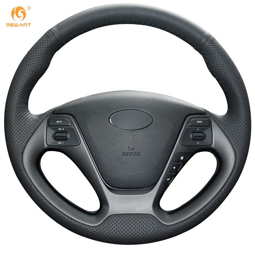 Black Artificial Leather Car Steering Wheel Cover for Kia K3 2013 K2 Rio 2015 2016 Ceed Cee'd 2012-2017 Cerato 2013-2017