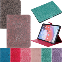 Luxury Sunflower Leather Wallet Magnetic Flip Case Cover Shell Tablet Skin Coque Funda Stand For Apple iPad Pro 11 2018 Cases
