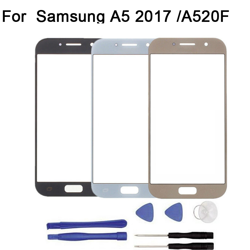 10pcs/lot For <font><b>Samsung</b></font> Galaxy A3 A5 A7 2017 A320F A520F <font><b>A720F</b></font> touch <font><b>Screen</b></font> Digitizer Front Glass Touch Panel Replacement + tool image