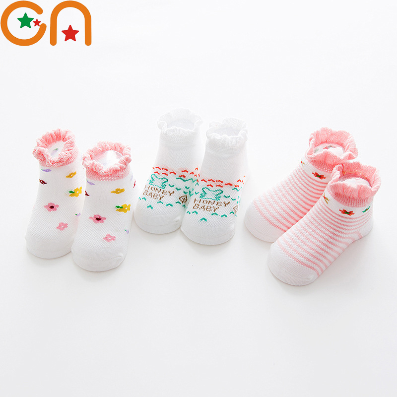 3 Pairs/Lot Baby Socks Newborns Infant Cute Animal Non-Slip Soft Cotton Sock For Spring/Summer 0-24 Month Kids Birthday Gifts CN