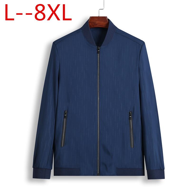2018 Spring Autumn Casual printed Slim Bomber Jacket Men Overcoat New Arrival Baseball Jackets Men's Jacket 8XL 6XL 5XL Plus big