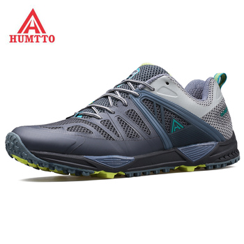 HUMTTO Men's Outdoor Camping Tourism Travel Shoes Sneakers For Men Sports Trekking Hiking Climbing Mountain Shoes Sneakers Man