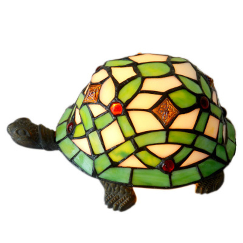 European Style Stained Glass Simulation Tortoise Push Button LED Light Fashion Home Art Decoration Baby Room Night Lamp X1373European Style Stained Glass Simulation Tortoise Push Button LED Light Fashion Home Art Decoration Baby Room Night Lamp X1373