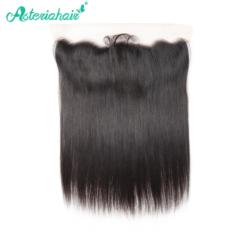 Asteria hair 13X4 straight lace frontal with baby hair Brazilian real human hair 8-20 inches Free shipping monochrome