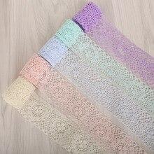 10 ярдов/лот белая кружевная лента 40 мм кружевная отделка ручной работы кружевная тесьма для шитье украшения африканская кружевная ткань