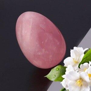 Натуральный розовый кварц яйцо хрустальный шар Волшебная лечебная Сфера драгоценный камень массаж и релаксация украшения дома