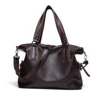 Genuine Leather Handbag 2018 New Fashion Trend Ladies Casual Bag Ladies Portable Large Capacity Bag Shoulder Messenger Bag Handbags
