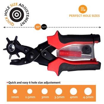 Belt Furador Com 6 Buracos Buraco Cinto Soco Alicate Ilh s Setter Ferramenta do Fabricante Buraco