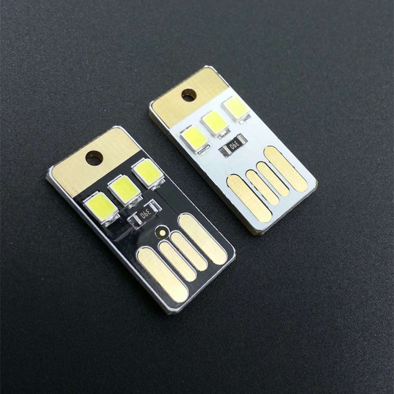 Active Components Integrated Circuits Black Led Lamp Bulb Keychain Pocket Card Mini Led Night Light Portable Usb Power