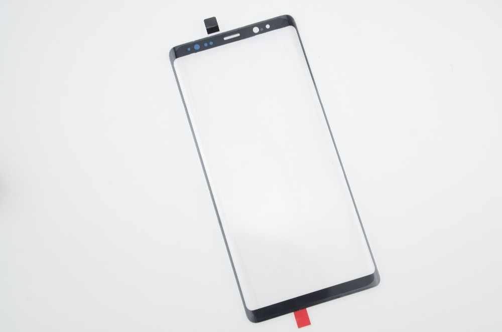 العلامة التجارية الجديدة شاشة سوداء الخارجي زجاج عدسة قطع غيار سامسونج غالاكسي نوت 8 زجاج الشاشة الأمامية عدسة مع أدوات إصلاح + UV الغراء