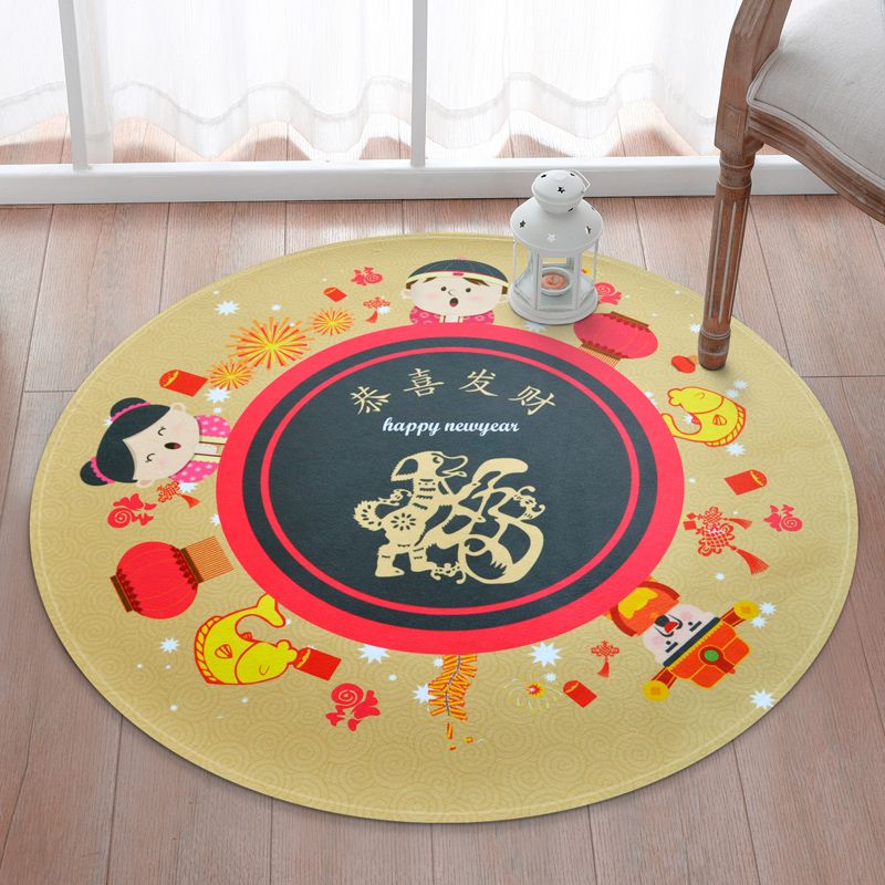Large size Round Carpets For Child Living Room Crawl Rugs Kids bathroom Non-slip floor Mats baby Kids Bedroom play Game Tapete