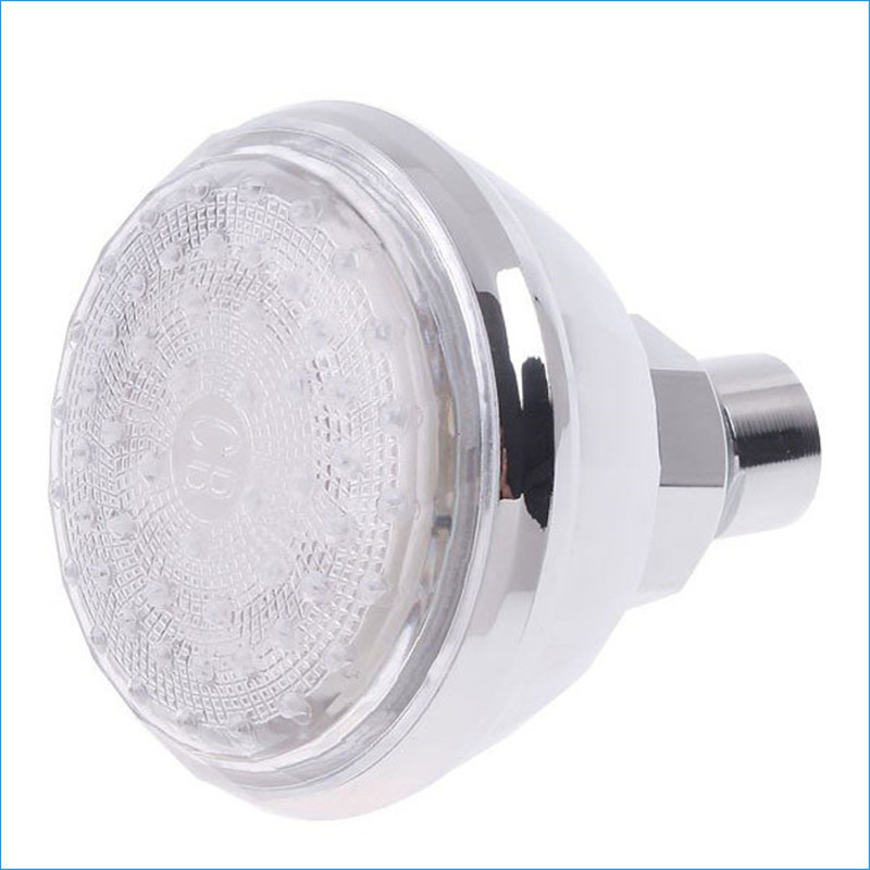 Home Improvement Dependable Led Light-emitting Top Shower Thermostat Top Spray 3 Color,temperature Control Tricolor Led Shower Head Spray,j14207