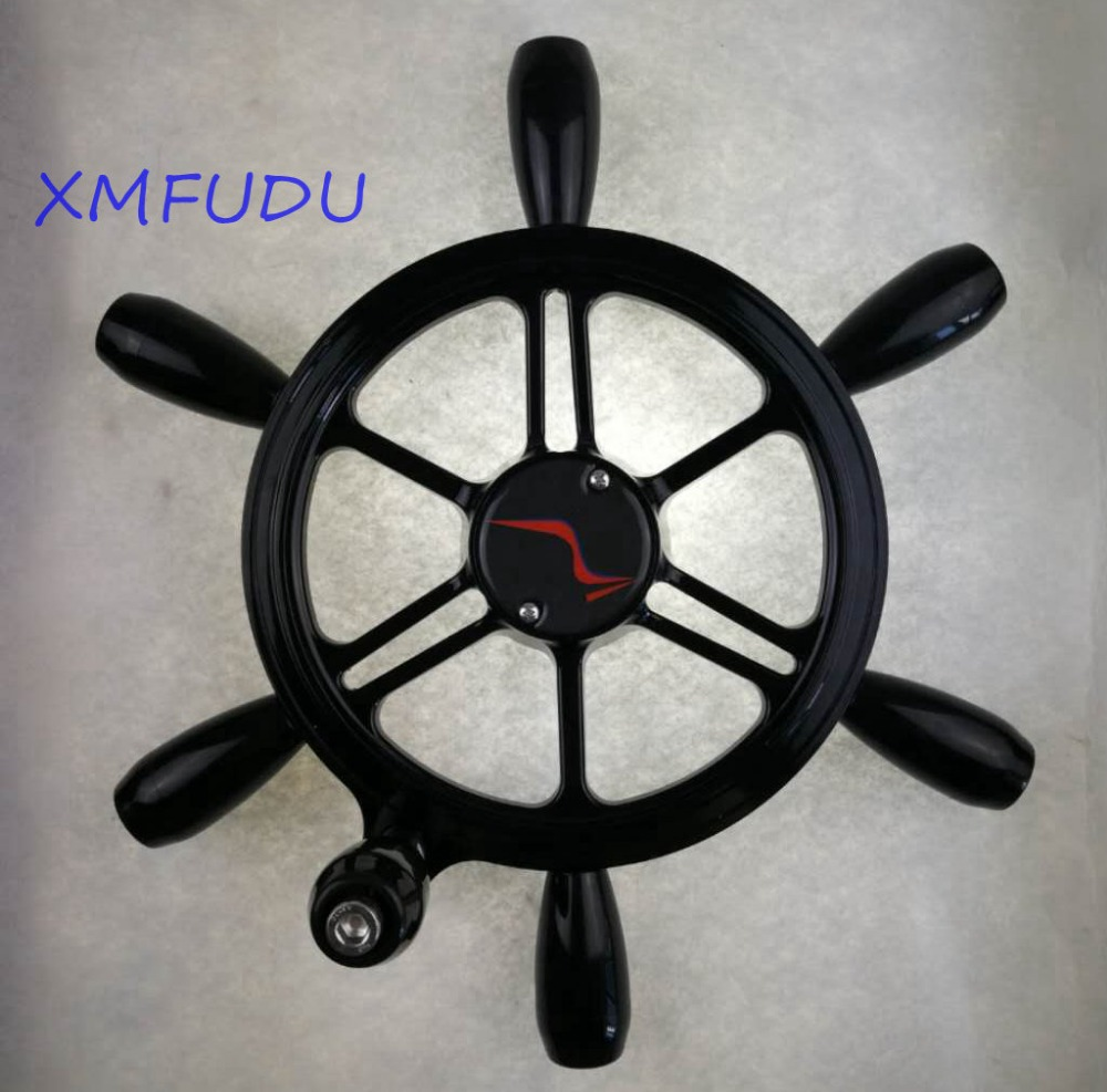 6-spoke  Stainless Boat Steering Wheel 3/4
