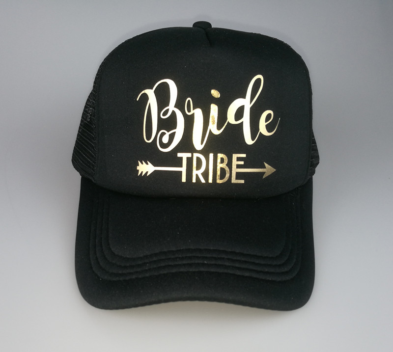 C Fung® Bride Tribe Bachelorette Hen Trucker Hat Cap Team Bride Gold Letters a43ac0b8df66