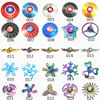 Game of Thrones Rainbow Hand Finger Fidget Spinner Eye Electroplate Hybrid Bearing Zilver Zinc Alloy Metal EDC Hand Tri spiner flash sale