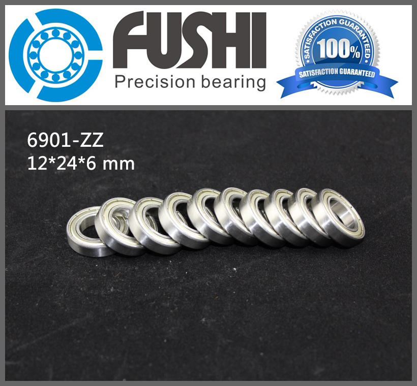 6901ZZ Bearing ABEC-1 (10PCS) 12x24x6 mm Metric Thin Section 6901 ZZ Ball Bearings 6901Z 61901Z gcr15 6326 zz or 6326 2rs 130x280x58mm high precision deep groove ball bearings abec 1 p0