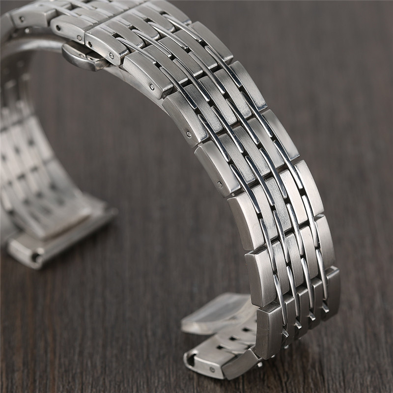 20mm 22mm 24mm Men Solid Stainless Steel Watch Band Metal Bracelets Strap Wrist Watches Replacement for Men's Women's Watch canvas blue fashion watch band strap 20 22mm wrist watches replacement bands for men boy male bd0134