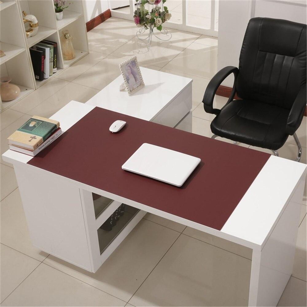 900*450mm bureau tapis de souris imperméable à l'eau ordinateur portable en cuir synthétique polyuréthane clavier tapis de souris bureau maison grande taille Table Pad pour Macbook ASUS Dell