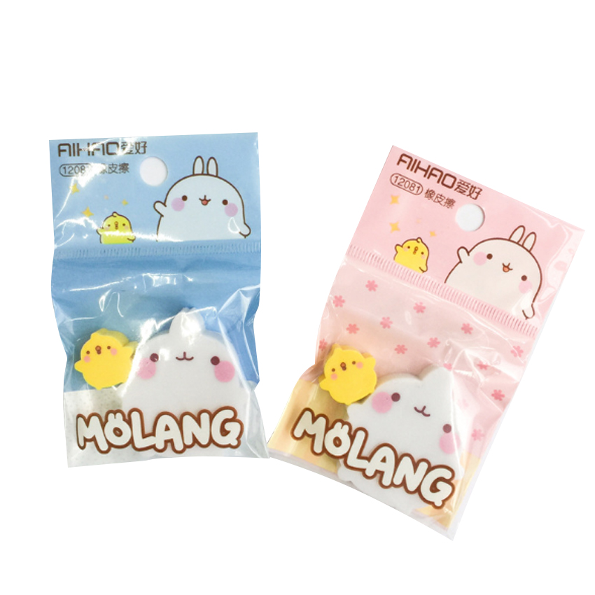 20packs/lot Kawaii Rabbit Duck Rubber Eraser Student Prizes Promotional Gift Stationery Students Supplies Wholesale