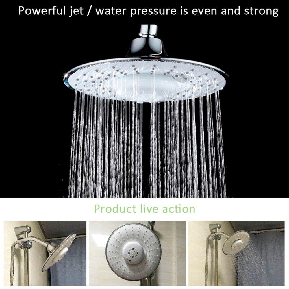 Morpilot Top Spray Rain Showerhead With Waterproof Music Jet