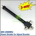 N женский 3 разъём(ов) делитель мощности полости делитель мощности 800 - 2500 мГц для 2 г 3 г 4 г GSM W-CDMA мобильный телефон усилитель сигнала wi-fi ретранслятор