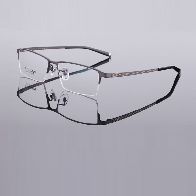 Width 142 Men Ultra Light B Titanium Half Rim Prescription Myopia Eyeglasses Frames Optical Goggle Glassses Eyewear Frames Men in Men 39 s Eyewear Frames from Apparel Accessories