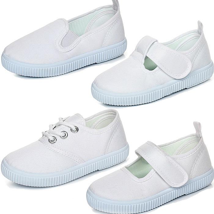 white gym shoes kids