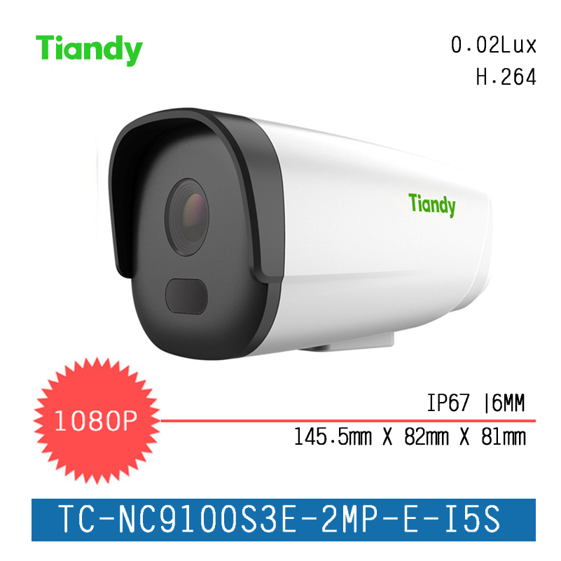Tiandy Box Camera Fixed 2MP Fixed IR Dome Series IP Camera 1080P Outdoor Support Onvif and English Version TC-NC9100S3E-2MP 6MM fixed support l
