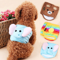 Bandage Type Pet Cotton Stripe Underwear 3D Cartoon Cat Tighten Briefs Diapers Dog Clothes Male Dog