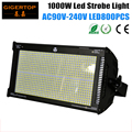 TIPTOP  AC90V-240V 1000W Led Strobe Light SMD Tianxin 50-50 800PCS 1.2W Dual Chip Cold White Color DMX1/3/6 Channels Mode