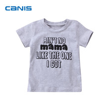 2017 Brand New Infant Toddler Child Kids Baby Girl Boys Short Sleeve Cotton T-shirts Tops Letter Clothes Casual Outfits 1-6T