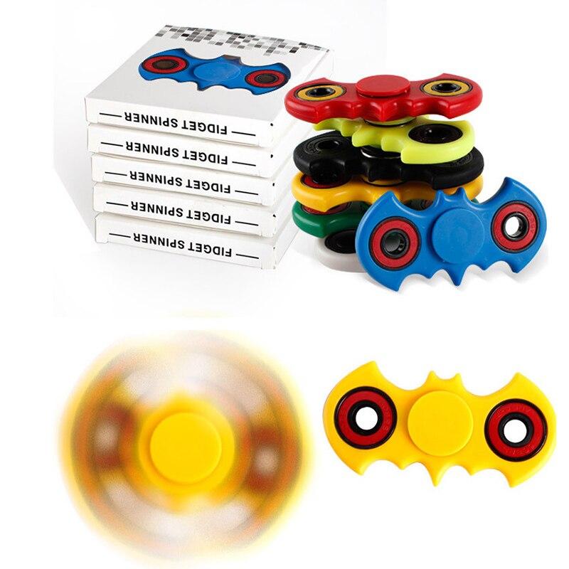 7 Colors Hand Spinner Fidget Stress Cube Batman Fidget Spinner Plastic EDC Tri Spinner Fidget Toy