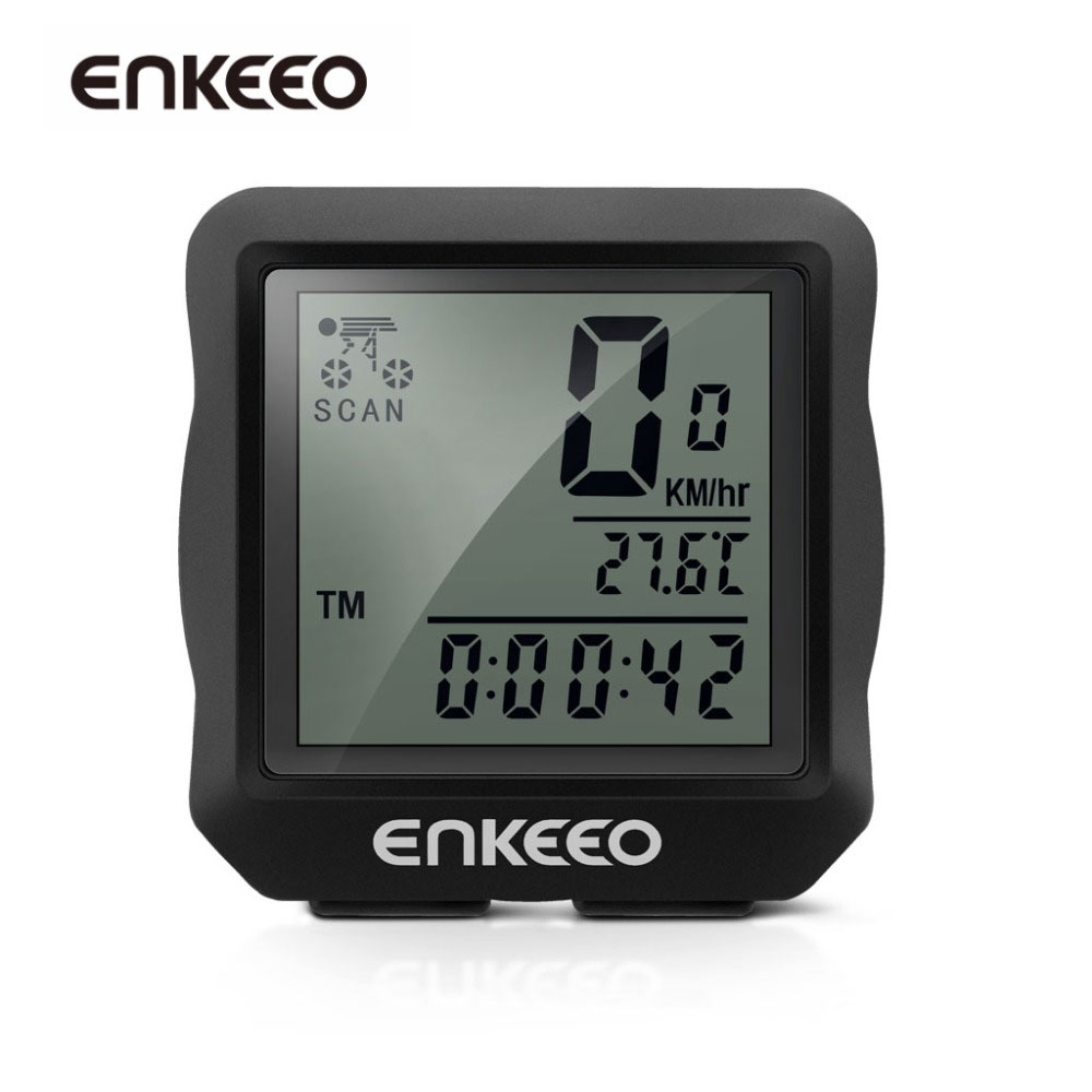 Enkeeo Wired Bike Bicycle Computer Cycling Speedometer Odometer Backlight Stopwatch Bicycle Accessories Parts
