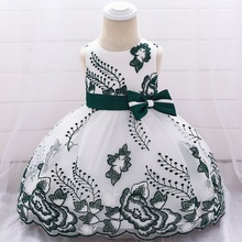 Baby Girl Dress Bow embroidery 0-24M 1 Years Dress