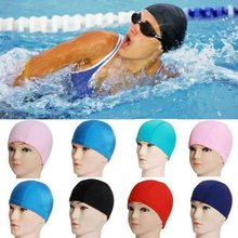 Free Size Fabric Protect Ears Long Hair Sports Siwm Pool Swimming Cap Hat Sporty Ultrathin Bathing Caps For Adults Men Women(China)